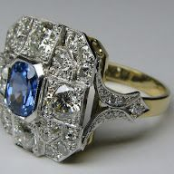 Sapphire and diamond ring made from gems recycled from jewellery client no longer wore. Fantastic result - much more fun than having jewellery sitting around gathering dust!
