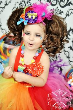 Toddler girls clown tutu costume*
