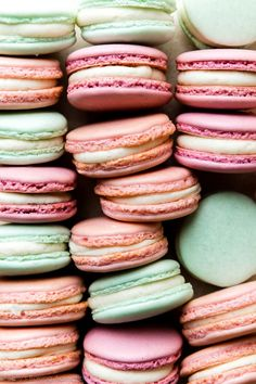 Find a beginner's guide to French macarons and full detailed recipe and video on sallysbakingaddiction.com Almond Recipes, Baking Recipes, Cookie Recipes, Dessert Recipes, Desserts, Baking Tips, Dessert Ideas, French Macaroon Recipes, French Macaroons