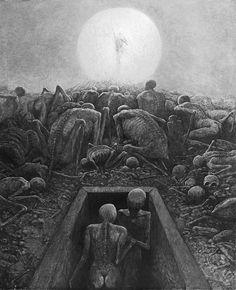 Zdzisław Beksiński Untitled, 1971, 122 x 98 cm