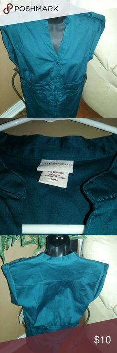 Covington top A teal green in color sleeveless top made of polyester and spandex new. Covington Tops Button Down Shirts