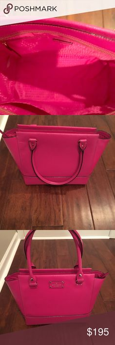 Kate spade purse NWOT Beautiful Kate spade pink purse with matching pink liner. Never used. Excellent condition kate spade Bags Totes