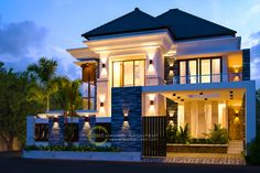 Brilliant Modern Home Design - Architecture. Find out what style of home you like best.Most people like several home architectural styles. Bungalow House Design, House Front Design, Modern House Design, Dream House Exterior, Dream House Plans, Bali House, House 2, 3d Home, House Elevation