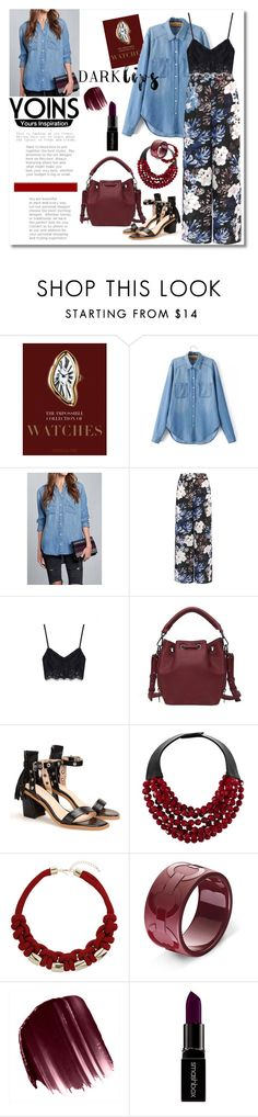 """""""Yoins contest - Win Yoins shirt"""" by andrea2andare ❤ liked on Polyvore featuring Assouline Publishing, Fairchild Baldwin, Topshop, Urban Decay, Smashbox, darklips and yoins"""