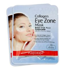 Korean Beauty Purederm Collagen Eye Zone Pad Patches Mask 30 Sheets Wrinkle Care | eBay