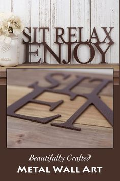 Display over the fireplace, or place in your entryway for all to see. An exquisite sign for your home, cabin or outdoor decor. Sit Relax Enjoy Metal Wall Art | Metal Sign | Wall Decor | Outdoor Sign | Garden Sign | Patio Decor | Lake House Sign | Sign #ad