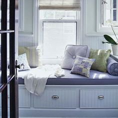 I've always loved and wanted a window seat. I LOVE this one!
