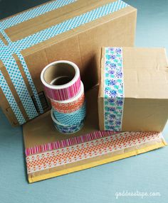 Goddess Tape | Recycle Your Boxes | #decorativetape #DIY #crafts