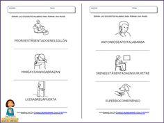 El blog de los maestros de A y L; Fichas Comprensión Lectora: Separa Palabras Para Formar Frases_parte 2 Acting, Blog, Speech Pathology, Reading Comprehension, Reading Comprehension, Montessori Activities, Blogging