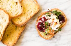 Broiled stone fruit with thyme and mascarpone cheese recipe   //   FOXINTHEPINE.COM