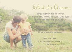Relish the charms of the present. #childhood #motherhood #inspiration