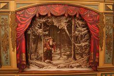 Vintage Christmas Ephemera ~ German Paper Christmas Theatre ~ Father Christmas