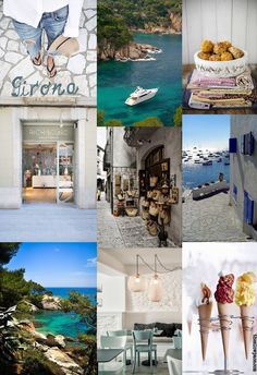 Moodboard Girona by The slow pace. Have you ever planned a trip based on food? We'd love to visit Girona to eat one of Rocambolesc ice creams!!!