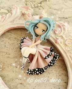 Polymer Clay People, Polymer Clay Fairy, Polymer Clay Figures, Polymer Clay Animals, Cute Polymer Clay, Cute Clay, Polymer Clay Dolls, Polymer Clay Crafts, Polymer Clay Jewelry