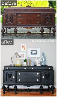 Furniture Reveal: Black Milk Paint Buffet