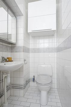 Small Bathroom Decorating Ideas | White Small Bathroom Design One of 6 total Snapshots Space Saving ...