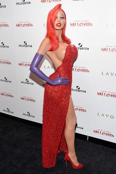 You Definitely Won't Recognize Heidi Klum in This Jessica Rabbit Halloween Costume - Halloween costumes - Jessica Rabbit Halloween Costume, Heidi Klum Halloween Costume, Best Celebrity Halloween Costumes, Cool Halloween Costumes, Halloween 2015, Halloween Party, Adult Halloween, Glamour Party, Cosplay Outfits