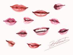 [Reference] Lips by Ze-RoFruits.deviantart.com on @deviantART