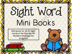 McGraw Hill Wonders Sight Word Mini Books from For The Love Of Kindergarten on… Wonders Reading Programs, Wonders Reading Series, Kindergarten Language Arts, Kindergarten Books, Kindergarten Worksheets, Literacy Work Stations, Mcgraw Hill Wonders, Transitional Kindergarten, Phonics Reading