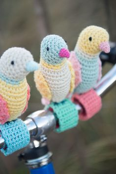 Embrace a sense of whimsy with some little handlebar friends! These little birdies are sure to brighten up a trip through the park and youll be