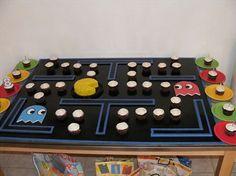 Pac Man cupcake display idea
