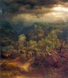 Category:Oil paintings by Lars Hertervig Great Paintings, Landscape Paintings, Stavanger, Van Gogh, Norway, Scandinavian, Coastal, Sunrise, Scenery