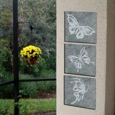 Butterfly Slate Wall Art