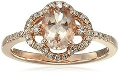10k Rose Gold Morganite and Diamond Ring (1/5cttw, H-I Color, I1-I2 Clarity), Size 7 Amazon Collection http://www.amazon.com/dp/B0132K1DZ0/ref=cm_sw_r_pi_dp_5ZM1wb16C7GX1