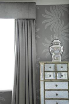 West London Master Suite by Sophie Paterson Interiors Grey Bedroom Decor, Bedroom Wall, Bedroom Curtains, Dream Bedroom, Bedroom Ideas, Interior Design London, Luxury Interior Design, Pillow Room, Living Room Grey