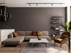 From residential interiors to the cities of the future, browse the best interior design, architectural photography and visualization today Interior Flat, Minimalist Interior, Best Interior Design, Modern Square Coffee Table, Futuristisches Design, Fantasy Rooms, Interior Architecture, Living Room Decor, Furniture