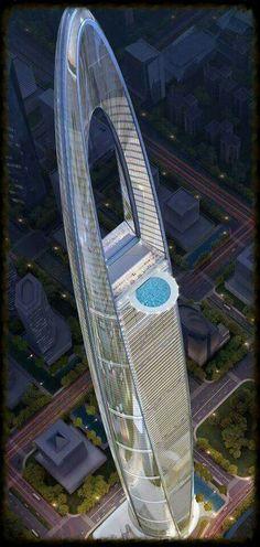 Architecture Skyscraper, CHINA, Arquitectura y urbanismo, Unusual Buildings, Interesting Buildings, Amazing Buildings, Modern Buildings, Architecture Unique, Futuristic Architecture, Architecture Websites, Japan Architecture, Design Plaza