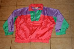 Active Spirit Peach Colorful Pullover Windbreaker Medium Vintage by nodemo Pullover Windbreaker, 1990s, Rain Jacket, Peach, Spirit, Colorful, Medium, Toys, Jackets