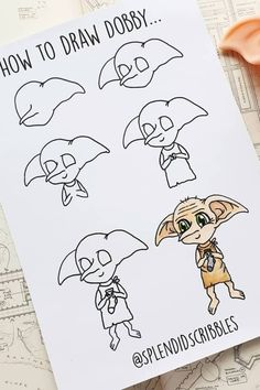Check out these awesome HARRY POTTER bullet journal doodles for inspiration! journal If you want to add some decoration to your bullet journal spread or entire theme, these super fun harry potter doodles will give you some inspiration! Harry Potter Drawings Easy, Harry Potter Sketch, Art Harry Potter, Harry Potter Painting, Dobby Harry Potter, Bullet Journal Art, Bullet Journal Themes, Bullet Journal Inspiration, Harry Potter Journal