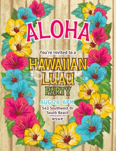 hawaii themed invitations throw a fun summer bridal shower with