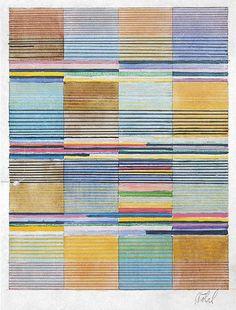 Gunta Stolz /Design for a wall hanging,  Bauhaus Dessau, 1928  31.5x23.8 cm  Victoria & Albert Museum, London