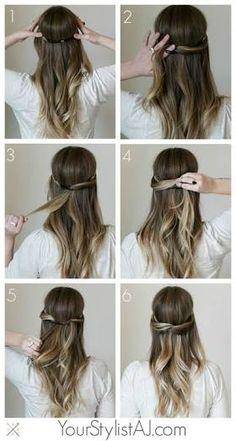 Resultado de imagem para updo diy for medium length hair
