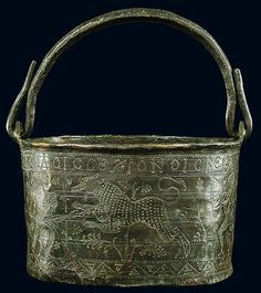 Bucket with a Hunting Scene