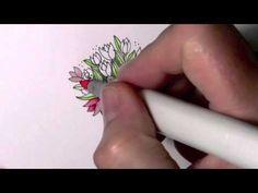 Copic coloring technique by Debbie Olson - FABULOUS!