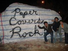 Paper *does* cover Rock!  #utk #knoxville