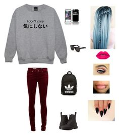 """""""Untitled #279"""" by mwallacex25 ❤ liked on Polyvore featuring Dr. Martens, Lime Crime, RetroSuperFuture and adidas Originals"""