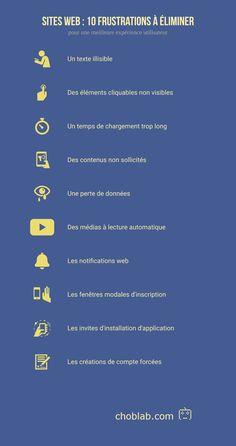Qualité web / UX : 10 frustrations à éliminer - Choblab
