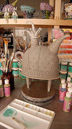 Process | natalyasots Ceramic Teapots, Ceramic Clay, Ceramic Bowls, Slab Pottery, Pottery Mugs, Ceramic Pottery, Jüdisches Museum, Antique Display Cabinets, Pottery Designs