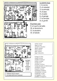 (ACTIVITY) Vocabulary - TOP ACTIVTY ONLY for English-speaking students. See http://me-encanta-escribir.blogspot.com/2013/11/la-casa.html for color picture of home