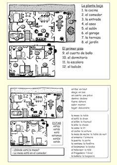 Me encanta escribir en español: La casa: (vocabulario y preposiciones)