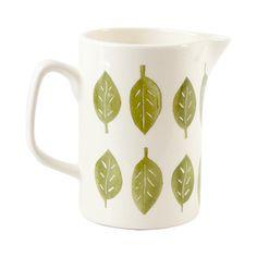 Green Leaf Jug – Yorkshire Trading Company Trading Company, Leaf Design, Green Leaves, Yorkshire, Vibrant, Pottery, Ceramics, Mugs, How To Make