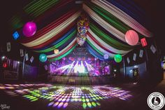 Circus themed draping