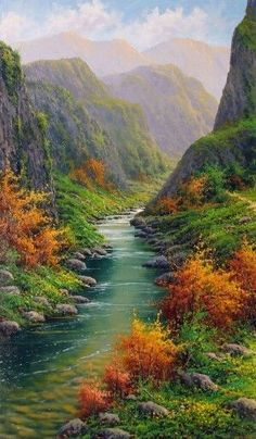 Outdoors Discover (notitle) Messenger De Amor Join the world of pin Beautiful Nature Pictures Beautiful Nature Wallpaper Beautiful Paintings Amazing Nature Beautiful Landscapes Beautiful World Beautiful Places Watercolor Landscape Landscape Art