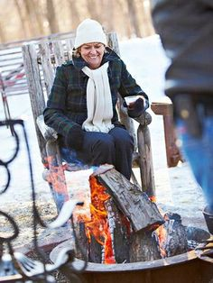Find the fun in cold winter days by throwing a bonfire party for friends and family.