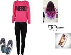 """nerd fashion"" by nick-liandra ❤ liked on Polyvore"