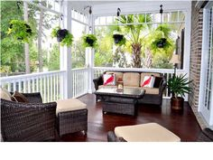 This deck's hardwood floors rival those indoors! Click here to see more! #CharlestonScRealState